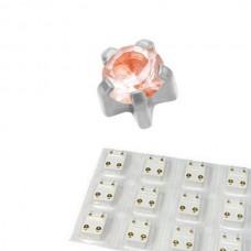Серьги для прокола ушей александрит в крапане без покрытия набор 12 пар