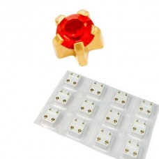 Кульчики для проколу вух рубін у крапані комплект 12 пар