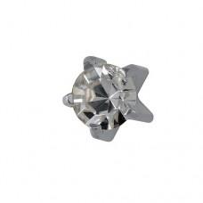 Серьги для прокола ушей большой кристалл в стальном крапане