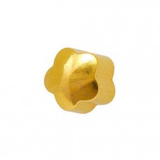 Серьги для прокола ушей золотой цветок Caflon Gold