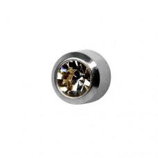 Серьги стальная для прокола ушей черный диамант завальцованный