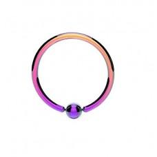 Кольцо с зажатым шариком стальное анодированное