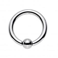 Кольцо для пирсинга хард серьга стальная с шариком