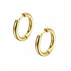 Кільця сережки сталеві з позолотою