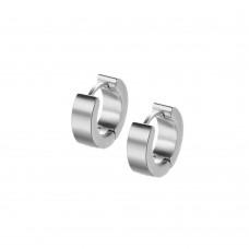 Серьги-кольца стальные глянцевые классические мини