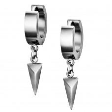 Сережки кільця конго з трикутною підвіскою сталевий конус