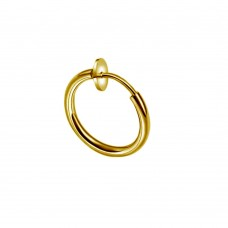 Кольцо обманка для пирсинга с покрытием