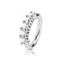 Пирсинг кольцо разгибающееся с цирконами