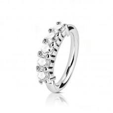 Пирсинг кольцо разгибающееся с кубиками циркония