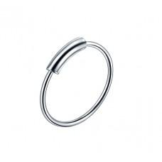 Кольцо для пирсинга титановое с разгибом d ring