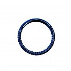 Оригинальное плетеное кольцо с замком Dark Sapphire
