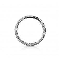 Кольцо стальное орбитальное открывающееся плетеное