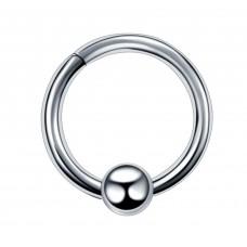 Кільце сталеве з розкриваючимся сегментом та кулькою