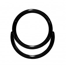Кільце клікер сталеве чорне анодоване для пірсингу