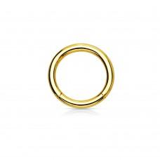 Кольцо кликер стальное мужское золотой хард