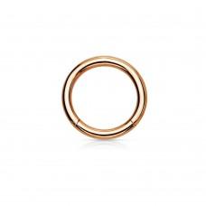 Кольцо-кликер из стали унисекс хард стиль красное золото