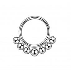 Изысканное украшение из титана кольцо кликер с шариками
