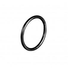 Серьга кольцо-кликер из титана черного цвета тонкое