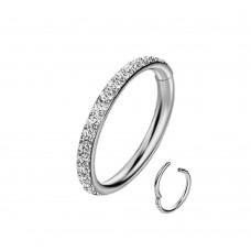 Кольцо титановое универсальное с кристалликами Swarovski