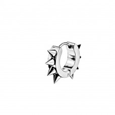 Серьга-кольцо стальное с шипами