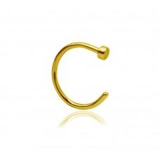 Кольцо в нос гвоздик стальной позолоченный