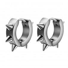 Сережки кільця з шипами сталеві унісекс