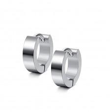 Кульчики сталеві кільця класичні