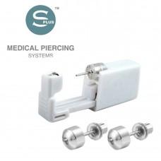 Серьги для прокола уха шарик стальной с заглушкой 4 мм Shapes Ball