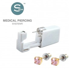 Серьги с заглушкой для прокола уха Tiffany Cubic Zirconia Pink