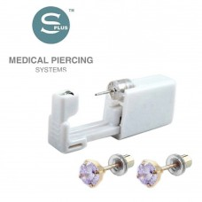 Серьги для прокола уха с цирконием в позолоте Tiffany Cubic Zirconia Lavander