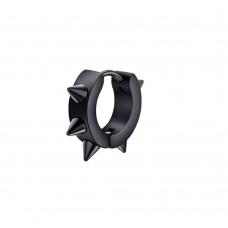 Кольцо в ухо - сталь черная, конус 6 штук