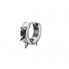 Серьга-кольцо с шипами стальное