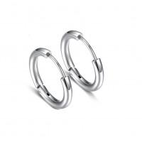 Серьги кольца в уши унисекс стальные
