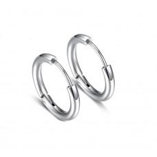 Серьги из стали кольца в уши унисекс