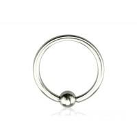 Кольца для пирсинга стальные с шариком