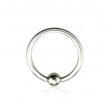 Кольцо для пирсинга стальное с шариком